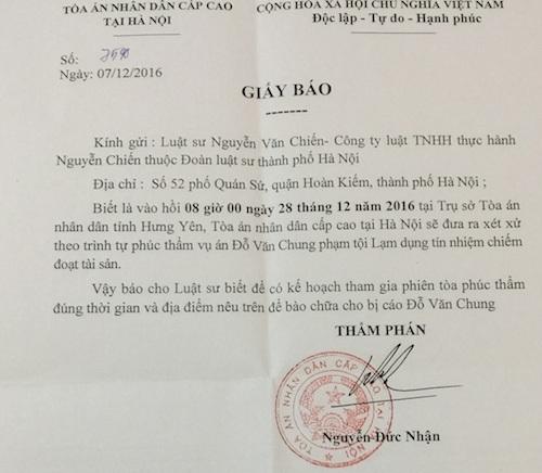 Tiếp tục mở phiên toà xét xử vụ án bị VKSND tỉnh Hưng Yên quy kết sai tội bị can.
