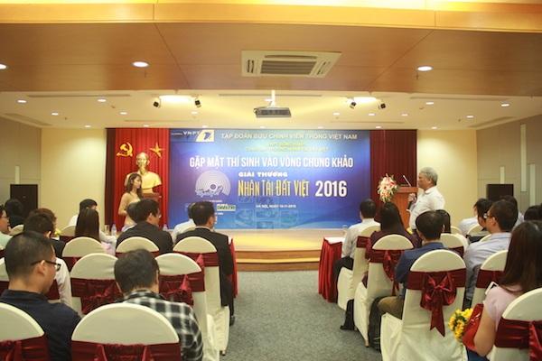Gặp mặt các thí sinh vào vòng Chung khảo Giải thưởng Nhân tài Đất Việt 2016 để lắng nghe những chia sẻ từ BTC, BGK và các thí sinh.