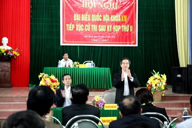 """Ông Nguyễn Văn Bình: Đặt cử tri vào vị trí của mình để xử lý giải quyết thấu tình đạt lý"""""""