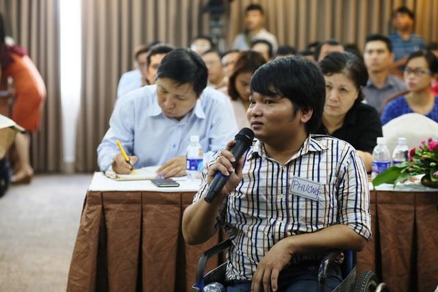 Bạn Trần Phương chia sẻ những khó khăn khi đi xe buýt