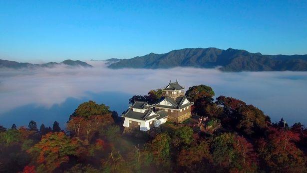 Tòa lâu đài như trổi nôi trong những đám mây.