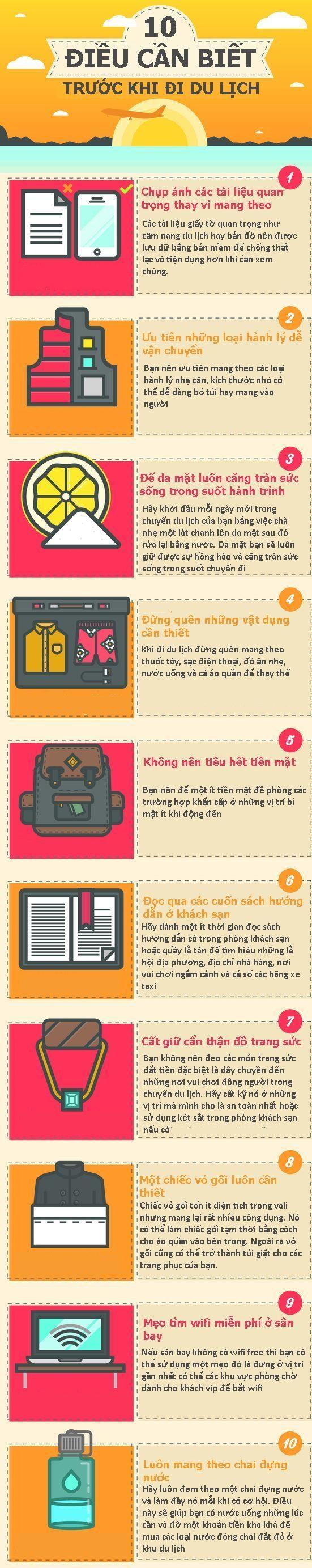 [Infographics] Những điều cần biết khi chuẩn bị cho một chuyến du lịch - 1