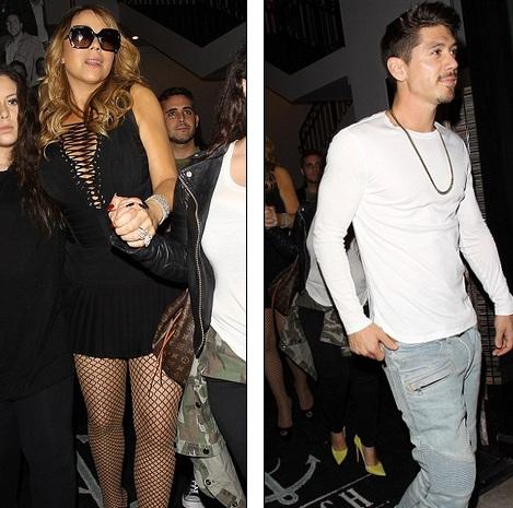 Diva Mariah Carey đưa cả ê kíp đi ăn tối tại 1 nhà hàng hạng sang ở Hollywood ngày 30/10 vừa qua. Trong đó có vũ công trẻ Bryan Tanaka