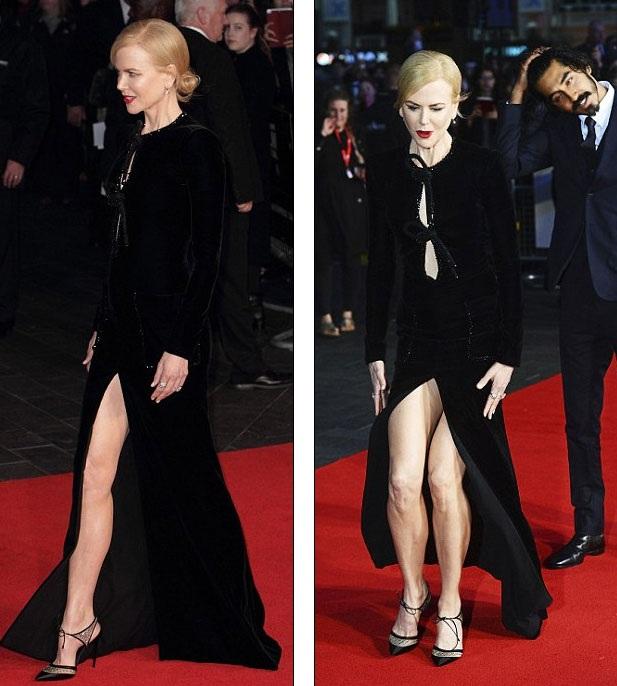 Nicole Kidman loay hoay giữ váy vì gió to - 1