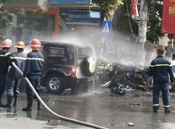 Xe taxi phát nổ kinh hoàng ở Cẩm Phả, 2 người thiệt mạng - 4