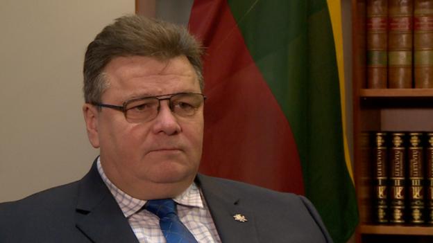 Ngoại trưởng Litva Linas Linkevicius. (Ảnh: BBC)