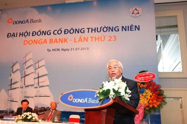 Ông Trần Phương Bình tại đại hội cổ đông ngân hàng ngày 21/7/2015.