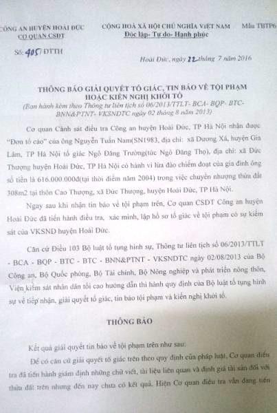 """Hà Nội: Chủ tịch huyện Hoài Đức cấp khống sổ đỏ, quan về hưu, dân """"kêu trời""""! - Ảnh 1."""