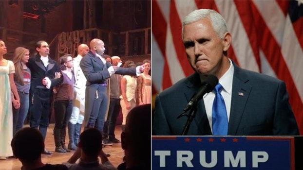 Các nghệ sĩ gửi thông điệp tới Phó tổng thống đắc cử Mike Pence (Ảnh: Huffington Post)