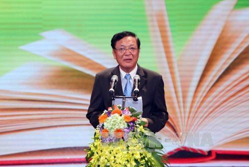 Đồng chí Phạm Vũ Luận, nguyên Bộ trưởng Bộ Giáo dục và Đào tạo. (Ảnh: Quý Trung/TTXVN)
