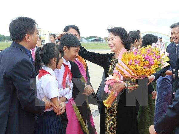 Chủ tịch Quốc hội gặp mặt cộng đồng người Việt Nam tại Campuchia - 1