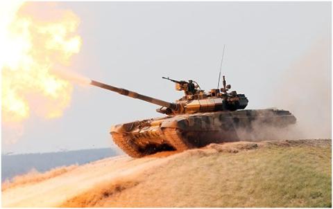 Xe tăng T-90A tham gia chiến dịch ở Syria