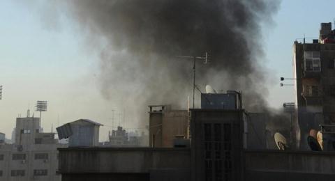 Hiện trường vụ không kích ở Đại sứ quán Nga. Ảnh; RT