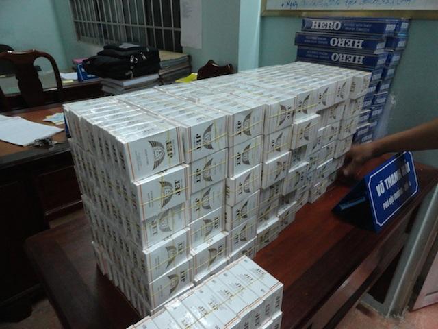 Số thuốc lá lậu bị bắt giữ.