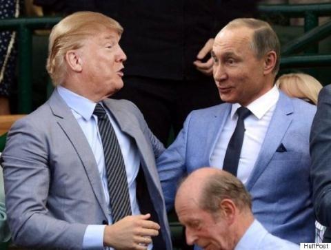 Cặp đôi Putin – Trump có thể phá vỡ cấu trúc hệ thống an ninh chung Mỹ - Châu Âu tồn tại gần 70 năm qua, nếu Trump bước vào Toà Bạch Ốc. Ảnh: Huff Post
