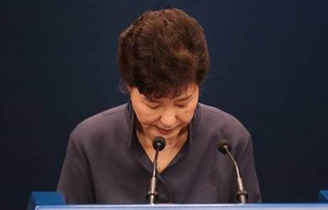 Tổng thống Hàn Quốc Park Geun-hye cúi đầu xin lỗi người dân ngày 25-10.