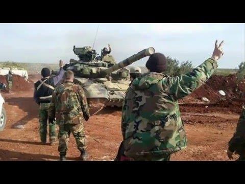 Tăng T-90 trong chiến dịch giải phóng Aleppo.