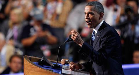 Ông Obama nổi tiếng là một diễn giả đầy nhiệt huyết. Ảnh: Telegraph