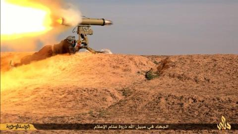 Tên lửa chống tăng Kornet tại chiến trường Syria.