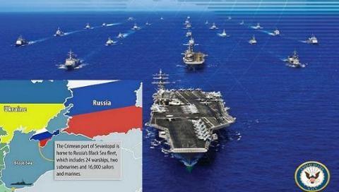 Nga lo cụm tàu sân bay Mỹ sẽ hất cẳng Hạm đội Biển Đen khỏi Crimea