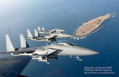 F-15K, chiến đấu cơ mạnh nhất hiện nay của Hàn Quốc.