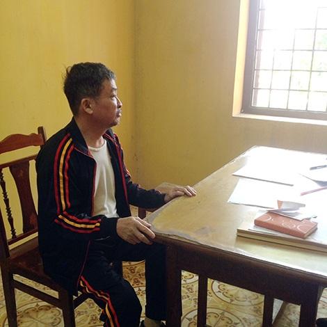Bị can Nguyễn Thiên Hưởng tại cơ quan điều tra