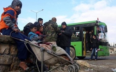 Người dân ở một số khu vực thuộc thành phố Aleppo, Syria đã có thể trở về nhà. (Ảnh: AFP)