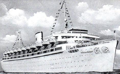 Tàu Wilhelm Gustloff vài ngày trước chuyến đi định mệnh.
