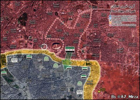 Quân đội Syria chia cắt hoàn toàn phần còn lại và phiến quân đã đầu hàng.