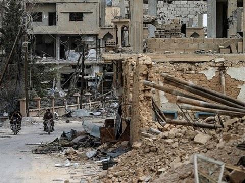 Hình ảnh các dãy nhà ở đông Aleppo bị tàn phá nặng nề do chiến tranh