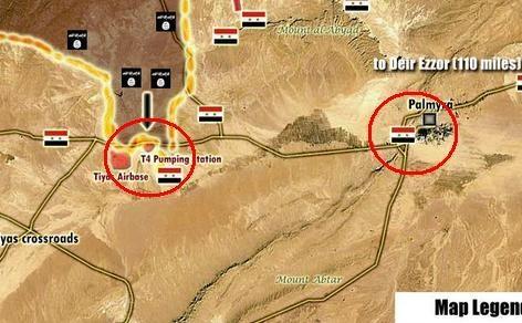 Sân bay quân sự T-4 ở gần Palmyra cũng bị IS tấn công