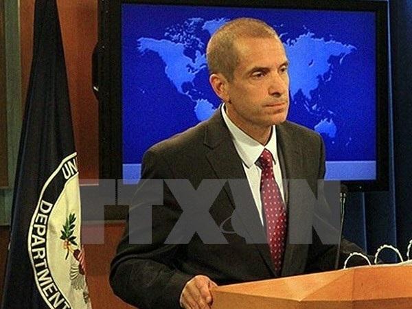 Phó phát ngôn viên Bộ Ngoại giao Mỹ Mark Toner. (Ảnh: Pakistan Today/TTXVN)