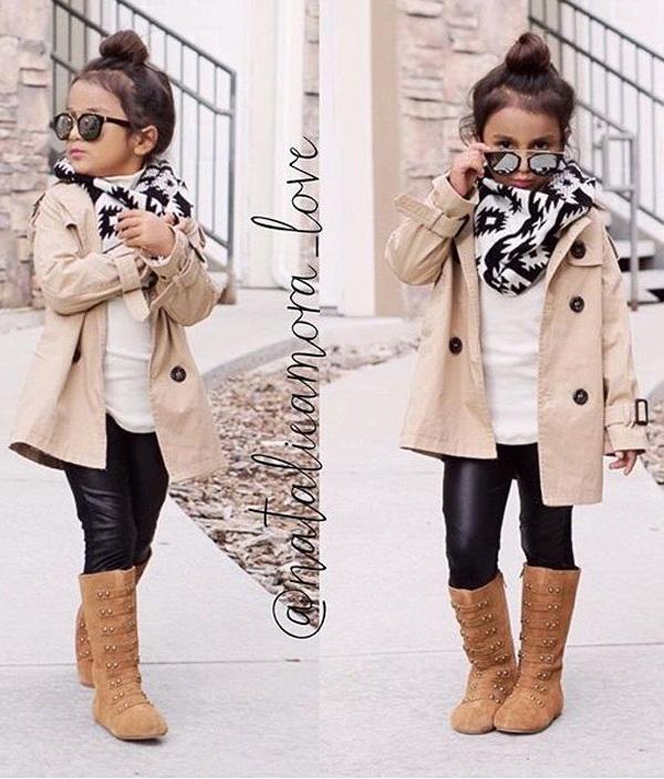 Gợi ý những bộ đồ mùa đông cực chất dành cho bé gái - 1