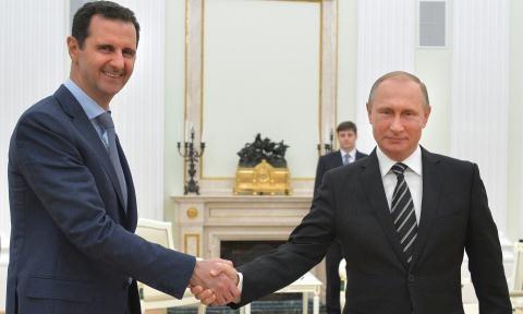 Tổng thống Syria điện đàm cảm ơn Tổng thống Nga Vladimir Putin.