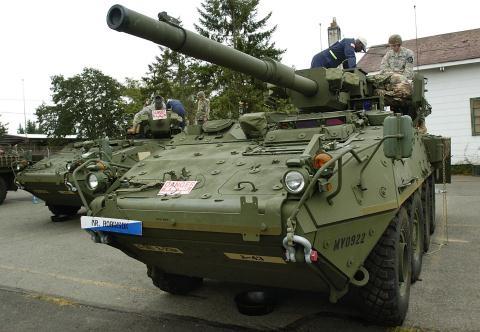 Xe chiến đấu Stryker.