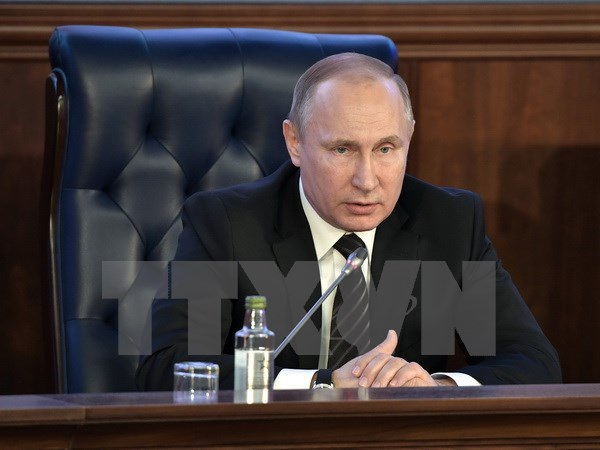 Tổng thống Nga Vladimir Putin. (Nguồn: EPA/TTXVN)