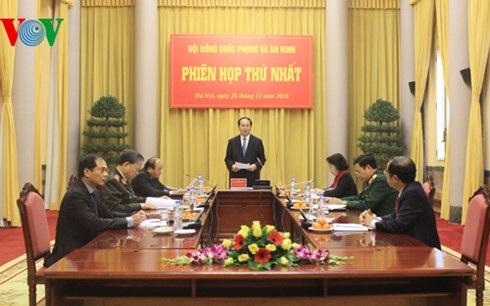 Chủ tịch nước Trần Đại Quang phát biểu khai mạc phiên họp.