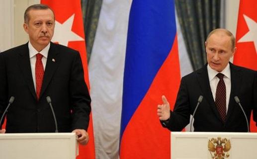 Tổng thống Thổ Nhĩ Kỳ Erdogan và Tổng thống Nga Putin.