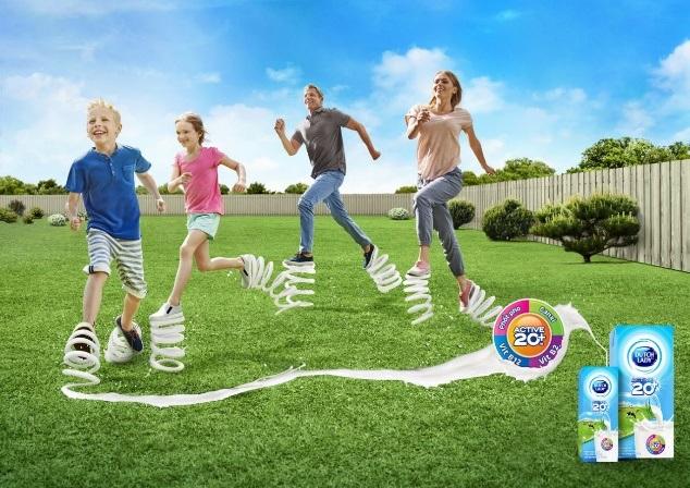 Cô Gái Hà Lan Active 20+™ cung cấp năng lượng sữa bền bỉ cho cả nhà năng động