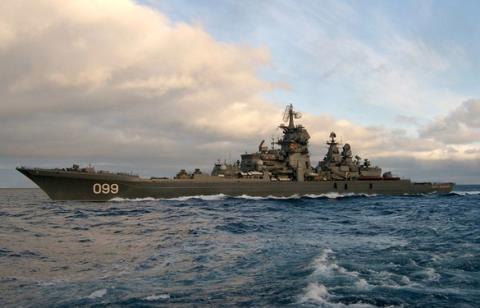 Tuần dương hạm Pyotr Veliky.