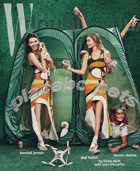 Tạp chí W đã dành tặng Gigi Hadid và Kendall Jenner một tác phẩm photoshop để đời khi phóng tay chỉnh sửa đến mức hai chân dài này mất luôn cả đầu gối.