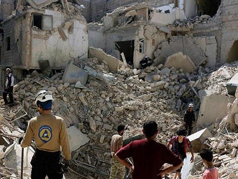Vấn đề Syria khiến căng thẳng Nga - Mỹ lên tới đỉnh điểm. Ảnh The Independent.
