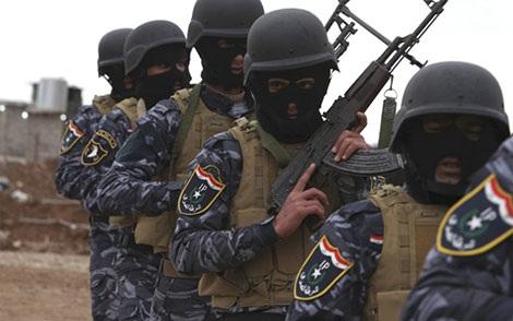 Lực lượng an ninh Iraq trong chiến dịch chiếm lại Mosul.