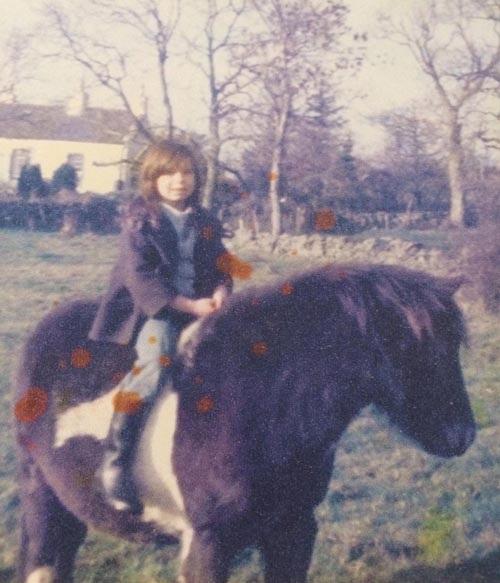 Kate Havord khi còn nhỏ.