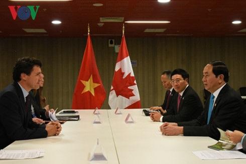 Chủ tịch nước tiếp Thủ tướng Canada Justin Trudeau.