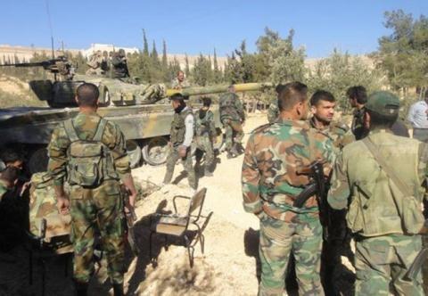 Binh sĩ quân đội Syria tại vùng ngoại ô thủ đô Damascus.