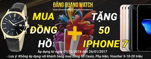 Tặng 50 Iphone 7 khi mua đồng hồ tại Đăng Quang Watch - 1