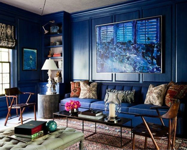 Sắc xanh luôn làm cho gian phòng trở nên ấm áp và dễ chịu. Nhiều người tin rằng màu xanh này mang lại nhiều may mắn cho căn nhà của họ