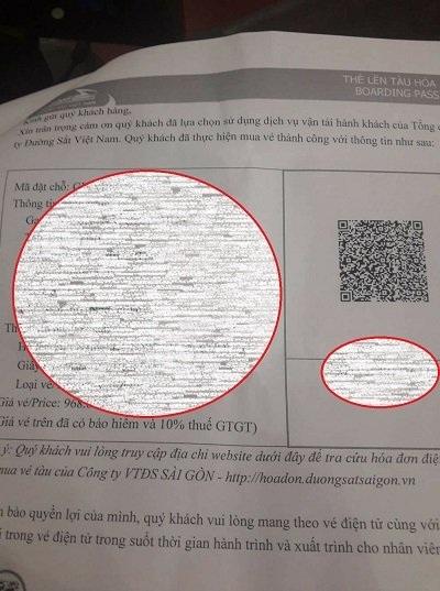 Vé tàu giả của một khách hàng mua lại cò vừa bị ga Sài Gòn phát hiện