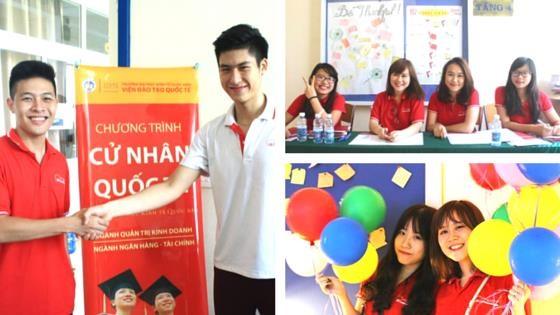 Sinh viên IBD@NEU rạng ngời trong Ngày hội Open day.